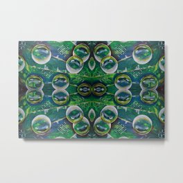 Abstract Bubble Art Metal Print
