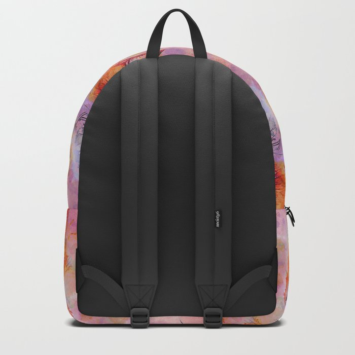 Watercolor colorful Fox Backpack