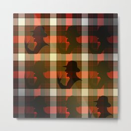 Freddie Plaid Metal Print