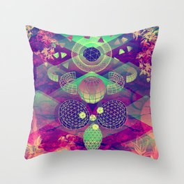'Active Contours' Illustration by Hannah Stouffer Throw Pillow