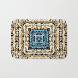 Intricate Carving Abstract Bath Mat