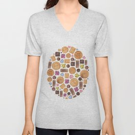 Sweets and Candy. Unisex V-Neck
