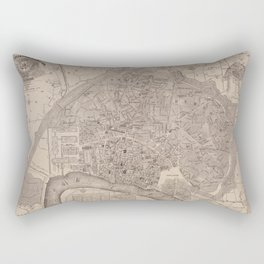 Vintage Map of Antwerp Belgium (1876) Rectangular Pillow