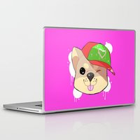 shiba Laptop & iPad Skins featuring fashion shiba by Donald