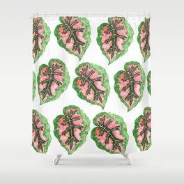 Begonia Leaf Pattern Shower Curtain