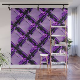 SQUARE CUT PURPLE FEBRUARY AMETHYST GEMS DIAGONAL PATTERN Wall Mural