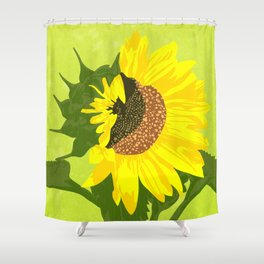 Sunflower: half open Shower Curtain