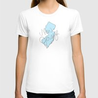 new jersey T-shirts featuring New Jersey - Blue by Oh Happy Roar - Emily J. Stivers