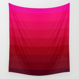 Pink and Red Stripes Wall Tapestry