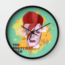 Bowie is a star Wall Clock