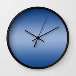 Blue to Pastel Blue Horizontal Bilinear Gradient Wall Clock