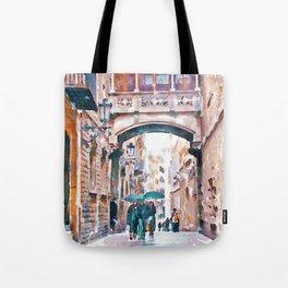 Carrer del Bisbe - Barcelona Tote Bag