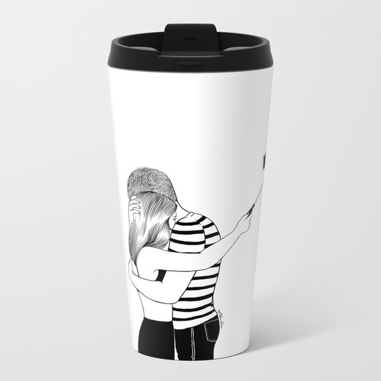Do I love you or Do I just love me in love Metal Travel Mug