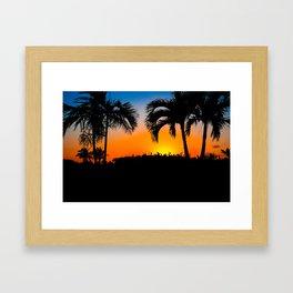 Sunset in Nassau Framed Art Print