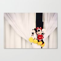 minnie mouse Canvas Prints featuring Mickey and Minnie Mouse by castle on a cloud