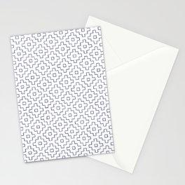 Persimmon Hitomezashi Sashiko - Blue on White Stationery Cards
