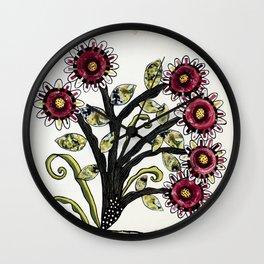 Healing Power of Flowers Wall Clock