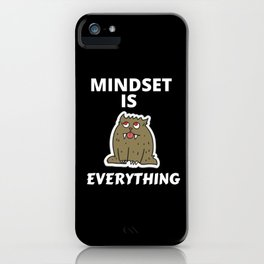 Mindset is Everything - Entrepreneur Quote iPhone Case