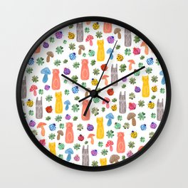 Animals & Lucky charms Wall Clock