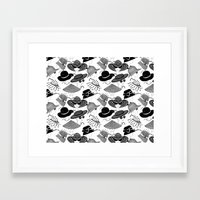hats Framed Art Prints featuring Hats, Hats, Hats!! by Lina Che