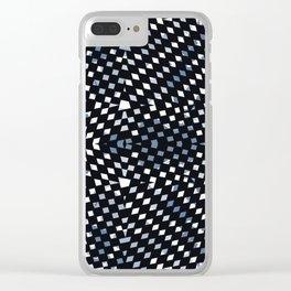 Black Diamonds Clear iPhone Case