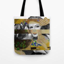 Klimt's The Kiss & Rita Hayworth with Glenn Ford Tote Bag