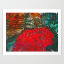 dimensional forest Art Print