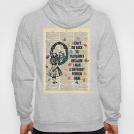 Alice In Wonderland Quote - Vintage Dictionary Page Hoody