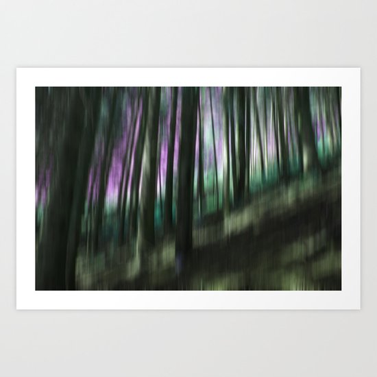 Hike in the mountain forest Art Print