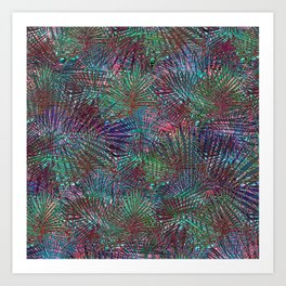 Crazed Palms Art Print