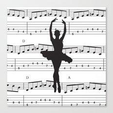 ballerina art, music Notes , girls nursery art, ballerina décor , girls nursery art , Canvas Print