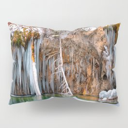 A spring that knows no summer  - Hanging Lake print  by Lena Owens Pillow Sham