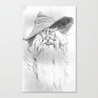 wizard Canvas Prints featuring Wizard by Michael Joseph Peraino