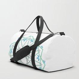 Decorative leaf Mandala Duffle Bag