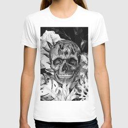 Black White Boho Skull T-shirt