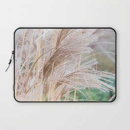 Blurred natural texture dry reed. Laptop Sleeve