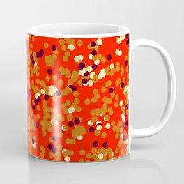 dots on red Coffee Mug