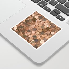 Pennies for your thoughts Sticker