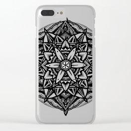 Sacred geometry flowe Clear iPhone Case