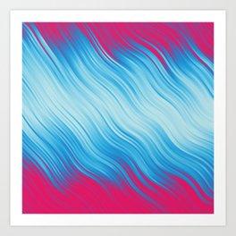 Stripes Wave Pattern 10 bp Art Print