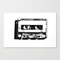 cassette Canvas Prints featuring cassette by Gabriel