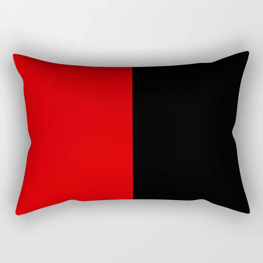Psychedelic Black And Red Stripes Vii. Rectangular Pillow RPW9053204