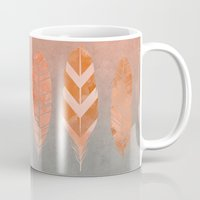 feathers Mugs featuring Feathers by LebensART