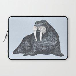 Frank Wallace in Blue | Nursery Art Walrus Drawing Laptop Sleeve