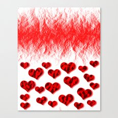 Hearts Abstract Pattern Canvas Print