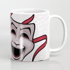Comedy And Tragedy Theater Masks Coffee Mug