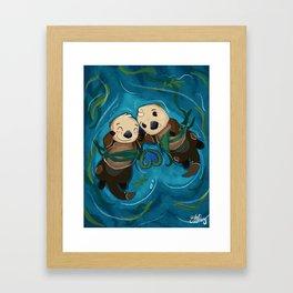 a whole l'otter love Framed Art Print