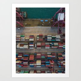 Containers Art Print