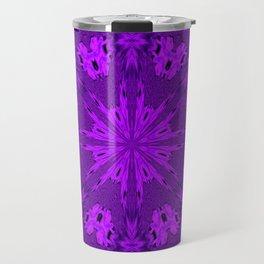 Peacock Double Kaleidoscope Purple Travel Mug