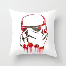 Storm Trooper Print Throw Pillow